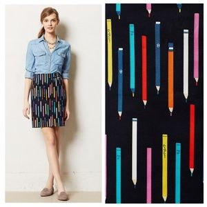 Anthropologie Pencil Pencil Skirt in Navy - 2/4